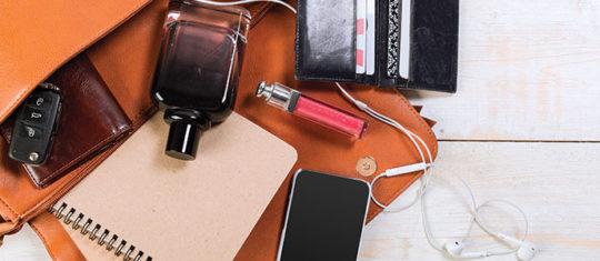 articles indispensables à mettre dans un sac à main