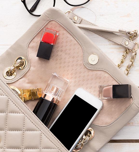 objets à glisser dans son sac